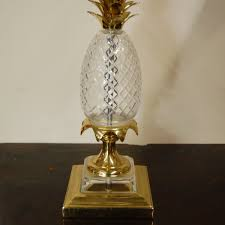 Pineapple Light Fixture Interior Cut Glass Pineapple Ls With Brass For Home Light