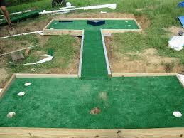 miniature golf putt putt course putt putt yards and diy games