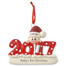 personalized baby u0027s first christmas ornament current catalog