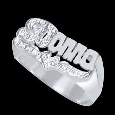 sterling silver name rings name ring