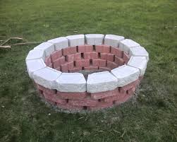 Cheap Firepit How To Build A Pit Cheap Diy Bricks Fireplaces