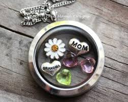 locket necklace with charms images Floating charm necklace etsy jpg