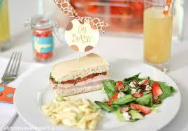 giraffe baby shower ideas baby shower food ideas baby shower lunch food ideas
