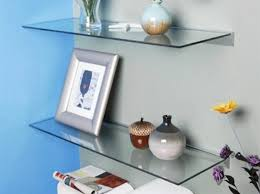 Floating Glass Shelves For Bathroom Floating Glass Shelves For Living Room Home Design Ideas