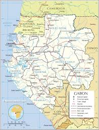 Map Of Africa Political by Administrative Map Of Gabon 1200 Pixel Nations Online Project