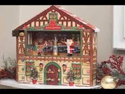 lighted santa s workshop advent calendar christmas advent calendar house youtube