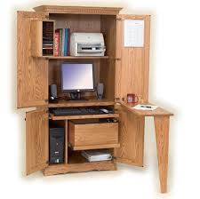 espresso computer armoire furniture ideas of unfinished computer armoire with folding desk