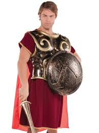 party city halloween plates roman spartan chest plate with cape 841614 55 fancy