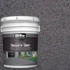 behr premium 5 gal gg 06 vineyard rock decorative concrete floor