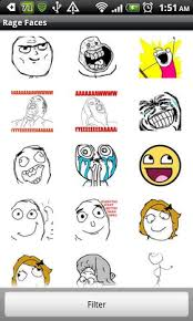 Internet Memes Faces - how to use rage faces or internet memes in your text message