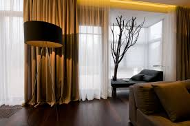 curtains for living room with brown furniture accent arm chair