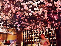 shochu bar in london introduces cherry blossom installation