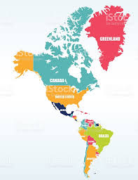 South America Political Map The Americas North And South America Political Map Stock Vector At