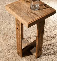 diy pallet end table or side table wooden pallet furniture