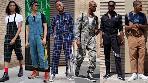 mens jumpsuit fashion jumpsuits and overalls were popular among showgoers at york