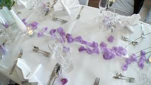 Purple And White Wedding Dolly Shot Of Elegant Purple And White Decoration Of A Wedding