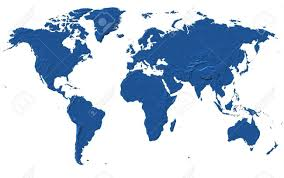 Oceania Map World Map Africa America Asia Europe U0026 Oceania Stock Photo