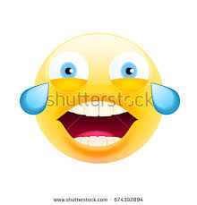 Smiling Crying Face Meme - face tears joy laughing crying face stock vector 674392894