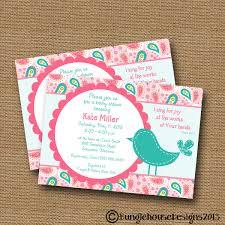 bird baby shower bird baby shower invitation baby girl invite diy printable