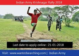 indian army recruitment indian army krishnagar rally 2018