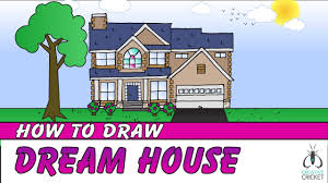 simple house drawing for colouring how to draw a house stepstep