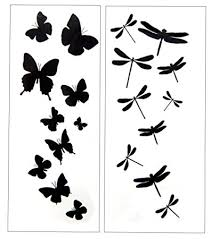 amazon com premium dragonfly butterfly black silhouette