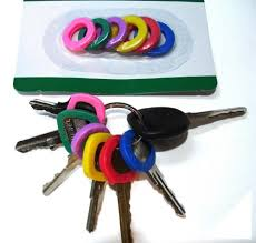 color key rings images 1 x lot of 12 home aide color coded key id cover jpg