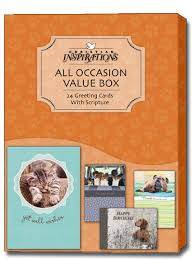 all occasion cards playful pets box of 24 christian assorted all occasion cards by