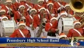 pennsbury high school marching band prepares to step for