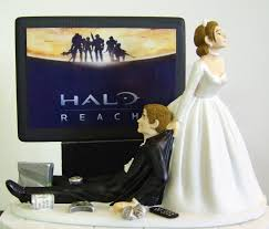 video game u0027junkie u0027 groom customized wedding cake topper the