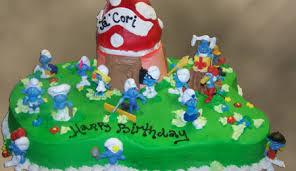smurf birthday cake cakecentral com