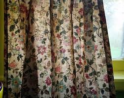 pleated curtains etsy