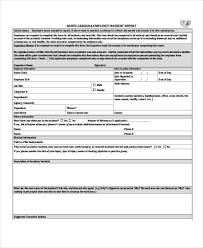 incident report register template 17 incident report templates free sle exle format