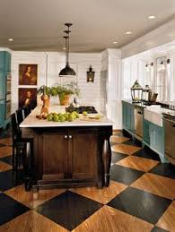 Hardwood Floor Kitchen by Painted Wood Floors Ideas Small Galley Kitchens Painted Wood