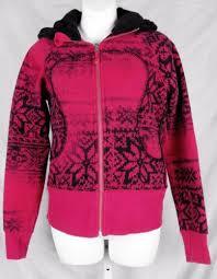 lululemon special edition snowflake scuba hoodie jacket 6 pink