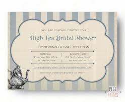 bridal tea party invitations high tea invitation bridal shower tea party invitations