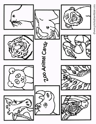 zoo animals coloring cards1 printables for kids u2013 free word