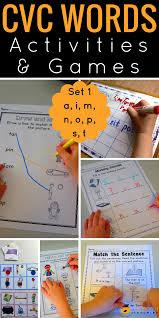 Blending And Segmenting Worksheets Cvc Words Activities U0026 Games Set 1 Top Notch Teaching