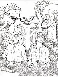 jurassic park coloring pages velociraptor coloringstar