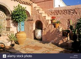 Spanish Style Courtyards by Corner Of A Spanish Patio Or Courtyard Garden At The Finca El