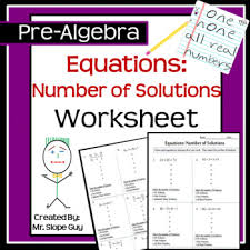 equations finding the number of solutions pdf worksheet go math