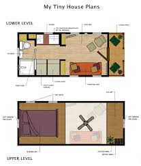 cabin floor plan the mcg tiny house with staircase loft photos video and plans