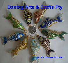Christmas Ornaments Wholesale China by Wholesale China Charms Cloisonne Fish Pendants For Christmas