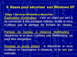 bureau a distance windows xp la sécurité informatique 1ère partie ppt télécharger