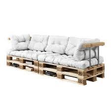 rembourrage coussin canapé canapé d angle en palettes coussin blanc 3 places avec palettes