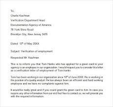 Sle Verification Letter For Tenant Verification Of Employment Letter Employment Letter Template