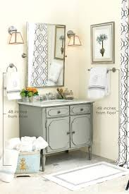 Powder Room Basins Proper Height For Towel Bars And Rings How To Decorate