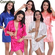 bridesmaid satin robes rb032 2017 new silk kimono robe bathrobe silk bridesmaid