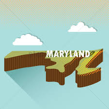 maryland map vector maryland map vector image 1618773 stockunlimited