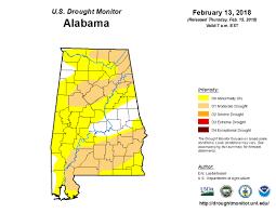 Map Alabama United States Drought Monitor U003e Current Map U003e State Drought Monitor